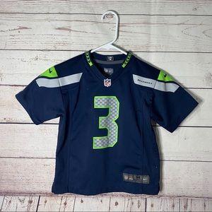 Nike NFL Kids Seattle Seahawks Wilson #3 Jersey